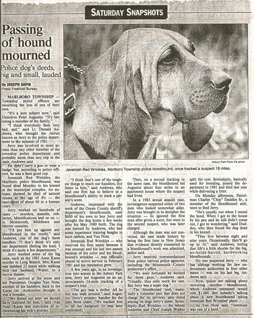 Jeremiah Red Wrinkles Obituary